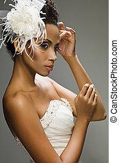 african-american, menyasszony