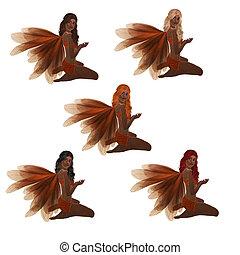 African American Orange Fairy