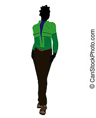 African American Outdoor Woman Silhouette - African american...