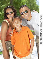 African American Parents WIth Boy Son