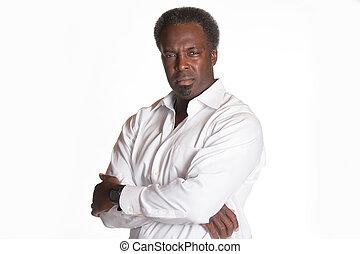 african american portrait of male boss