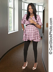 African American Pregnant Woman