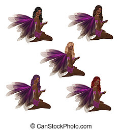 African American Purple Fairy
