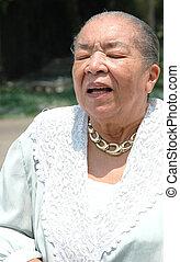 African american senior.