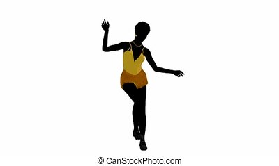 African American Showgirl Dancing - Showgirl dancing on a...