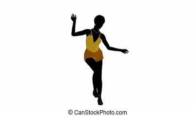 African American Showgirl Dancing - Showgirl dancing on a...