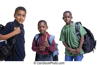 African American Students - A group of african american...