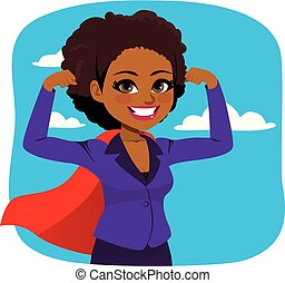 African American Super Businesswoman