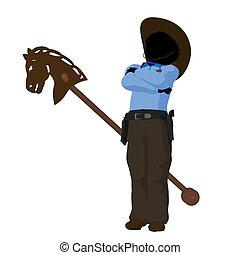 African American Teen Cowboy Illustration - African american...