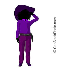 African American Teen Cowgirl Illustration - African...