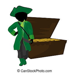 African American Teen Pirate Illustration Silhouette - An ...