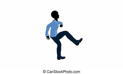 African American Teen Urban Dancing - African american teen...