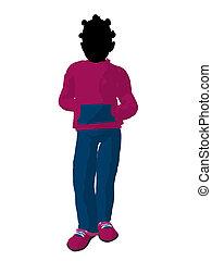 African American Teen Urban Female Silhouette - African...