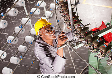 african american textile factory mechanic