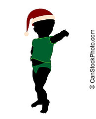 African American Toddler Illustration Silhouette - African...