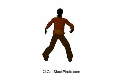 African American Urban Male Dancing - African american urban...