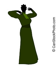 African American Victorian Illustration Silhouette - Female...
