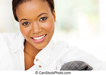 african american woman close up portrait