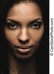 African-american woman close-up shot