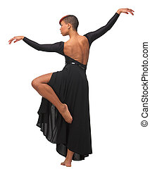 African American woman Dance Pose