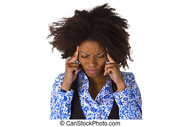 African american woman feels sick