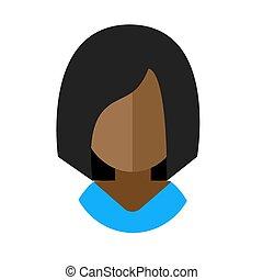 African-American woman flat icon avatar