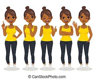 African American Woman Gestures