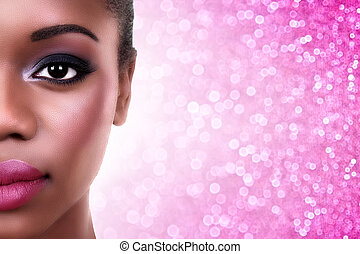 African American Woman Make Up
