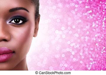 African American Woman Make Up - Beautiful African American ...