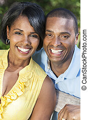 African American Woman & Man Couple
