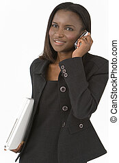 African American Woman On a Cell Phone