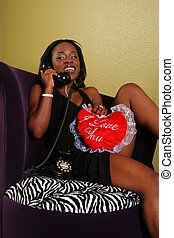 African American Woman On The Phone 2