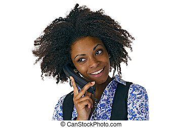 African american woman on the phone