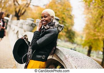 African american woman outdoor