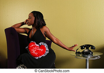 African American Woman Refusing The Phone 2