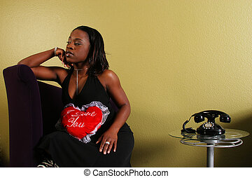 African American Woman Refusing The Phone