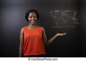 African American woman teacher geog