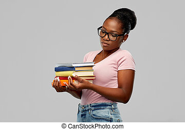 african american woman with books