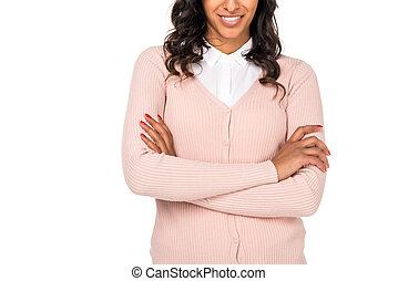 african american woman with crossed arms