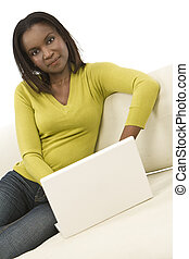 African American Woman Working At Home
