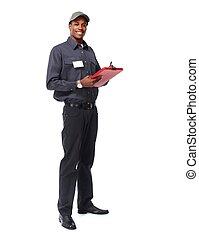 African-American worker man.