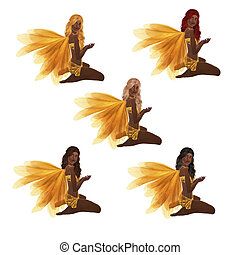 African American Yellow Fairy