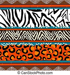 African animal print pattern background