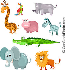 african animal set - vector illustration of a african animal...