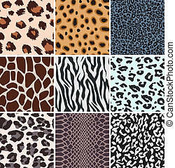 african animal skin repeated pattern