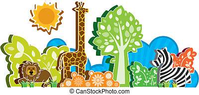 the African animal background