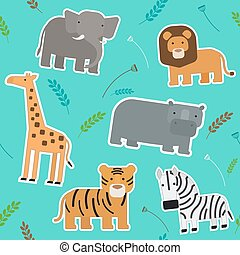 African Animals Seamless Pattern