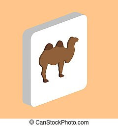 African Bactrian Camel computer symbol for your business project