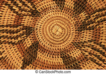 African basket bottom - close up of the bottom of an African...