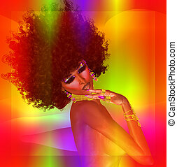 African Beauty, Glowing Abstract - This glowing, colorful...